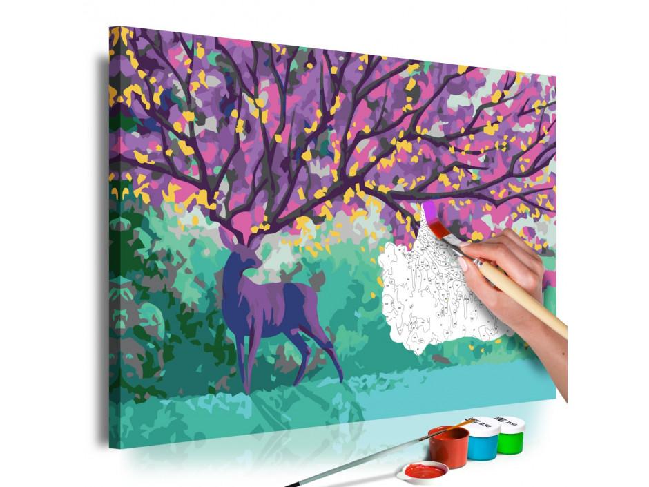 Tableau à peindre par soimême  Purple Deer