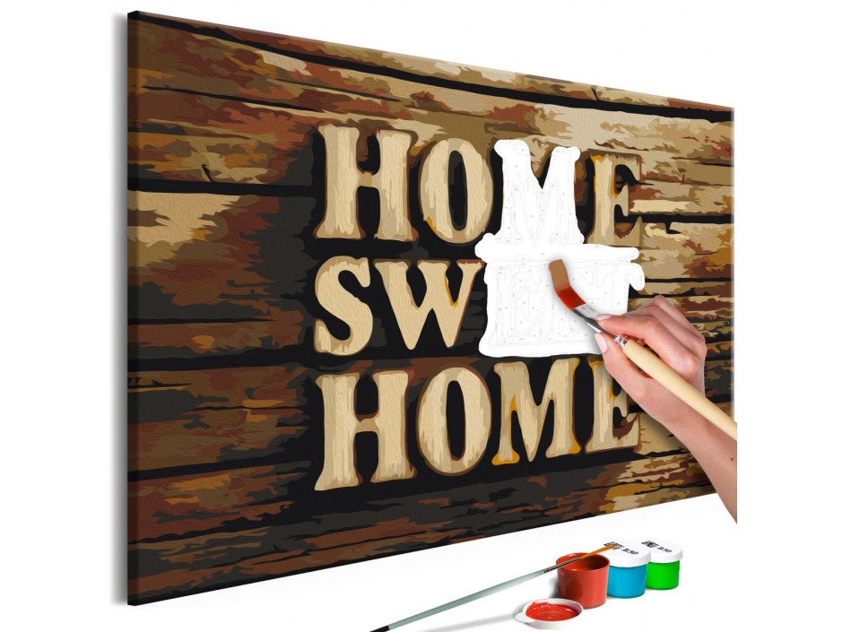 Tableau à peindre par soimême  Wooden Home