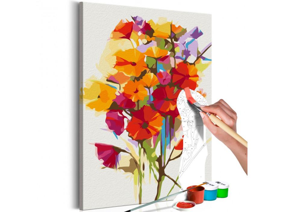 Tableau à peindre par soimême  Summer Flowers