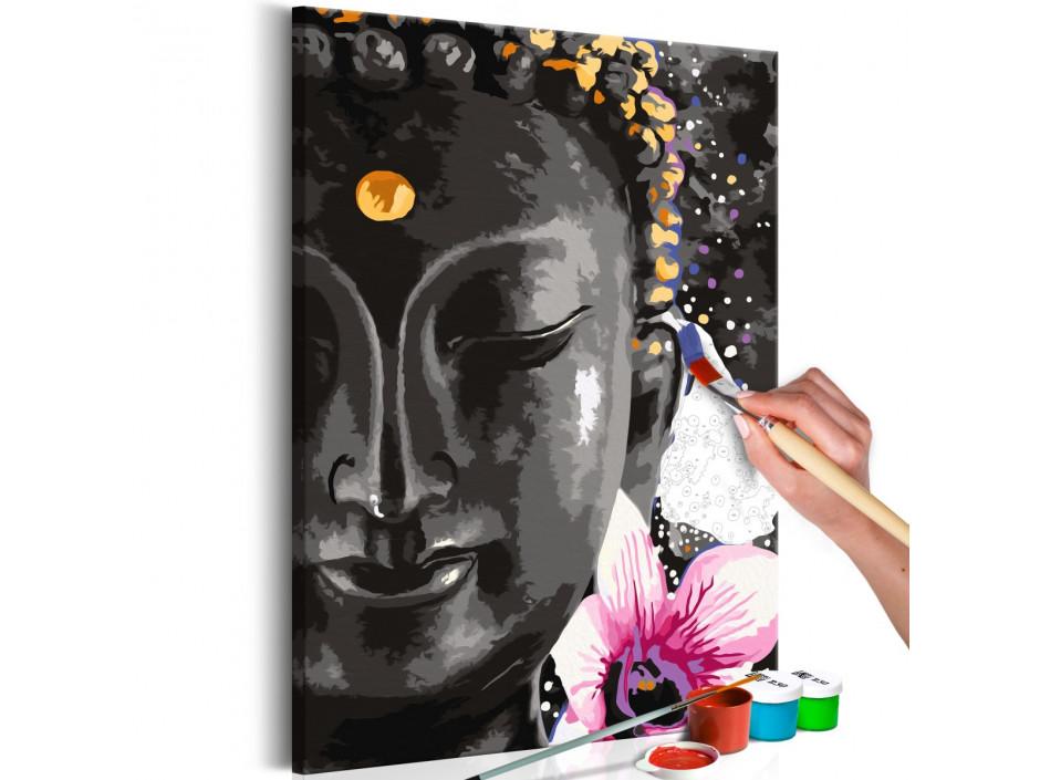 Tableau à peindre par soimême  Buddha and Flower