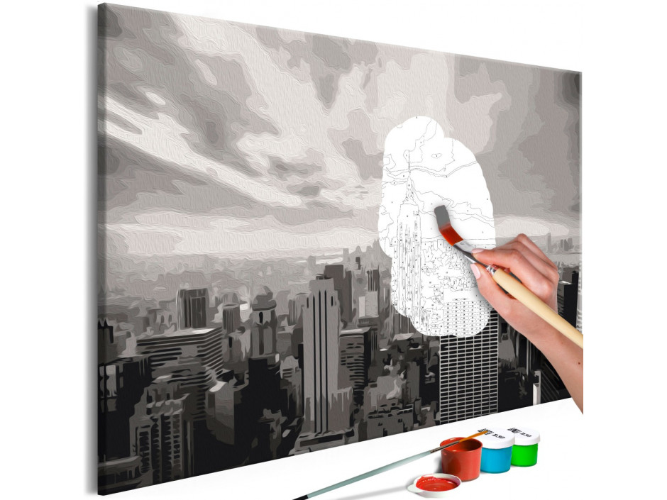 Tableau à peindre par soimême  Grey New York