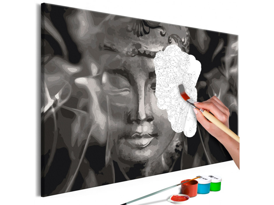 Tableau à peindre par soimême  Buddha in Black and White