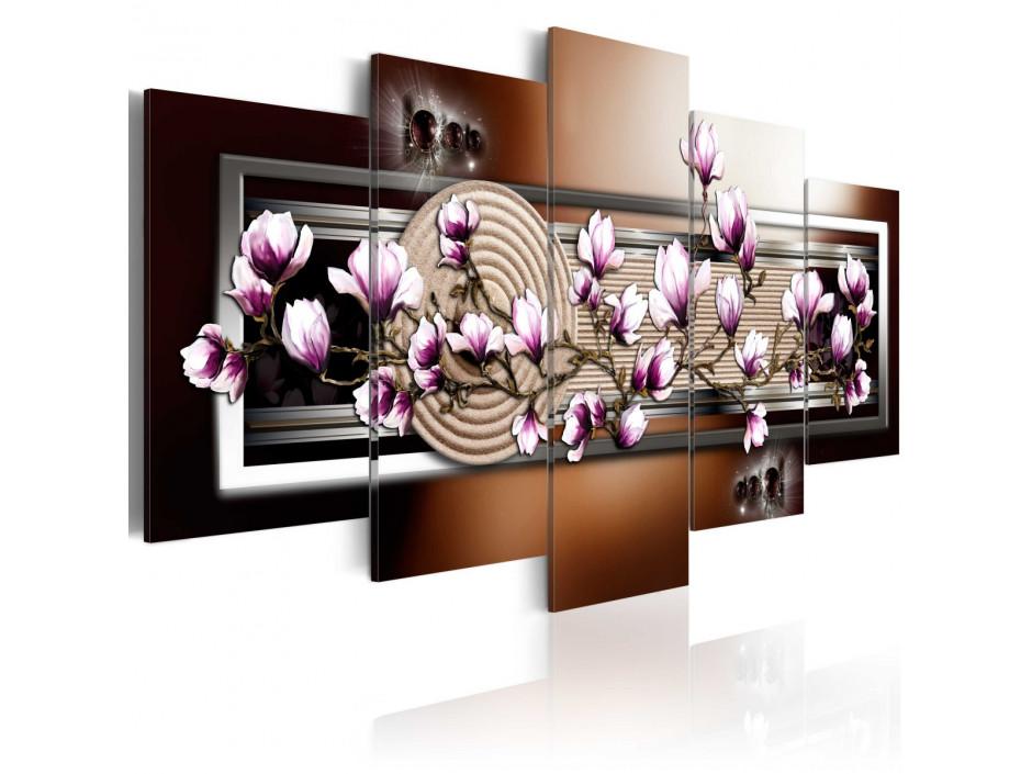 Tableau - Zen garden and magnolia