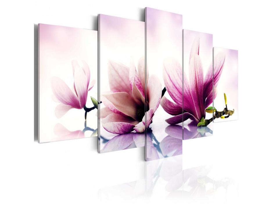 Tableau - Fleurs roses- magnolias