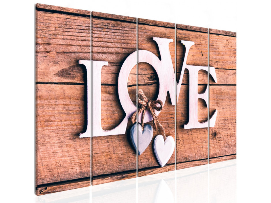 Tableau  Wooden Letters (5 Parts) Narrow