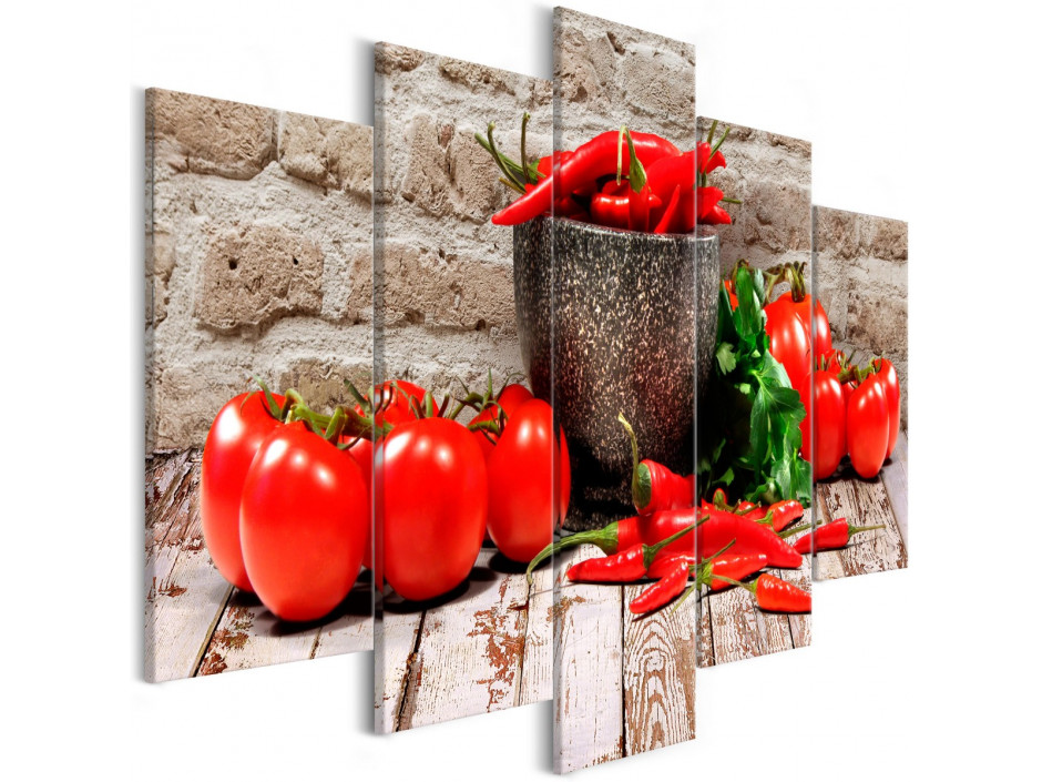 Tableau - Red Vegetables (5 Parts) Brick Wide