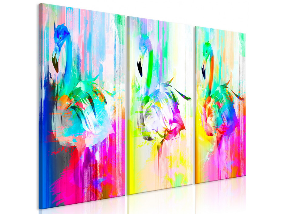 Tableau - Colourful Flamingos (3 Parts)
