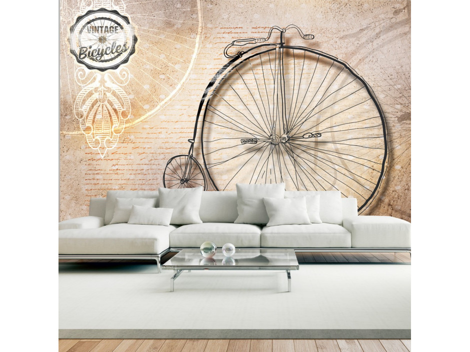 Papier peint - Vintage bicycles - sepia