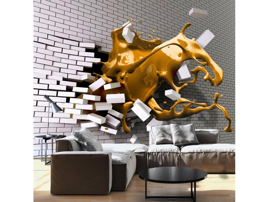 Papier peint - Inspiration de safran
