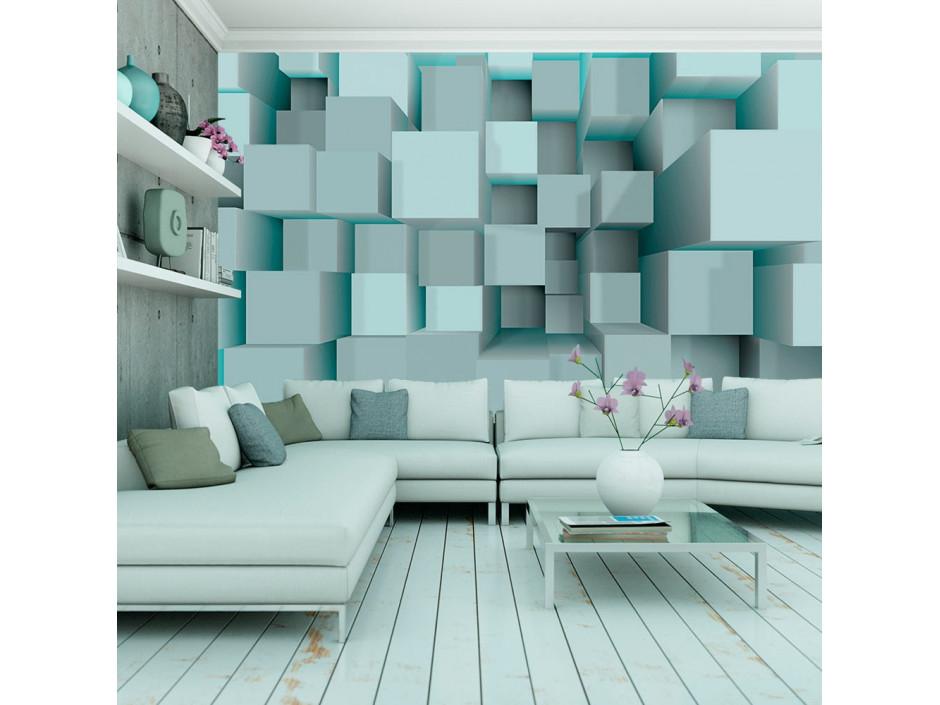 Papier peint - Blue puzzle