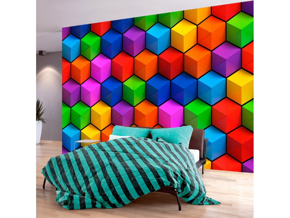 Papier peint  Colorful Geometric Boxes