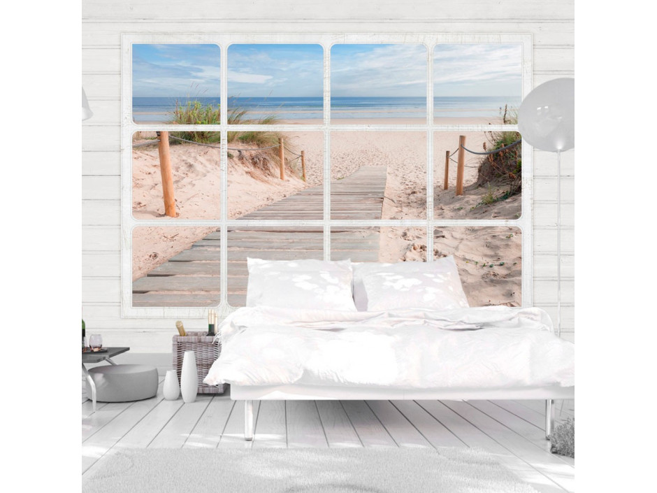 Papier peint Window & beach