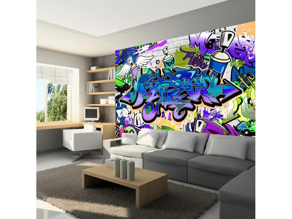 Papier peint  Graffiti violet theme