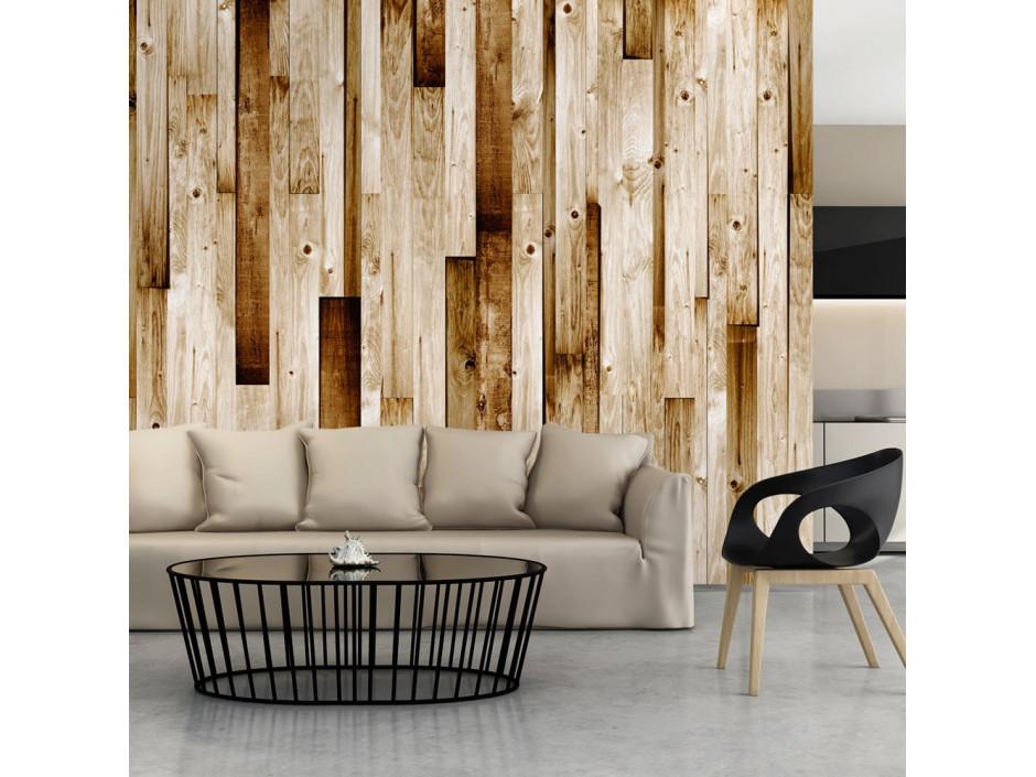 Papier peint  Planches en bois