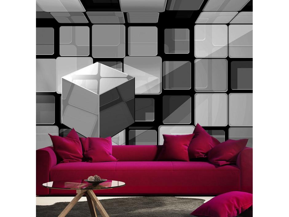 Papier peint  Rubiks cube in gray
