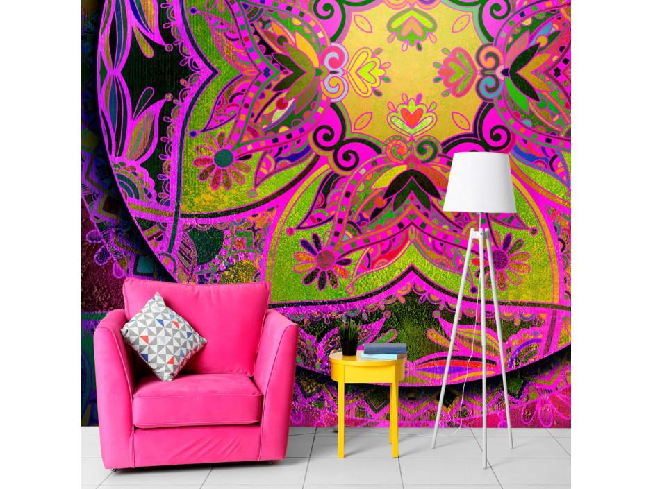 Papier peint  Mandala Pink Expression