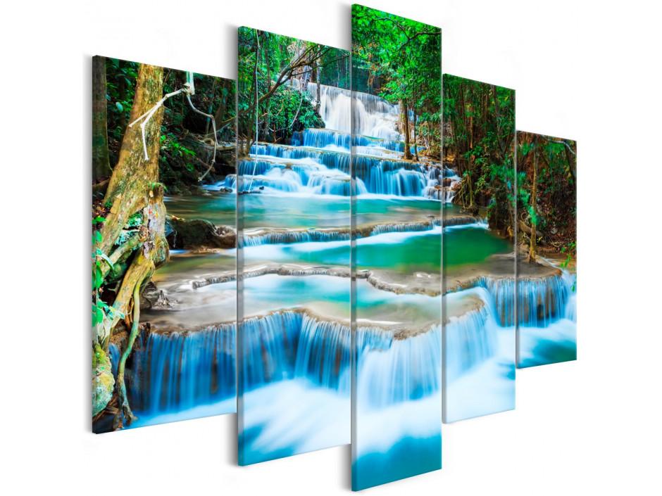 Tableau - Waterfall in Kanchanaburi (5 Parts) Wide