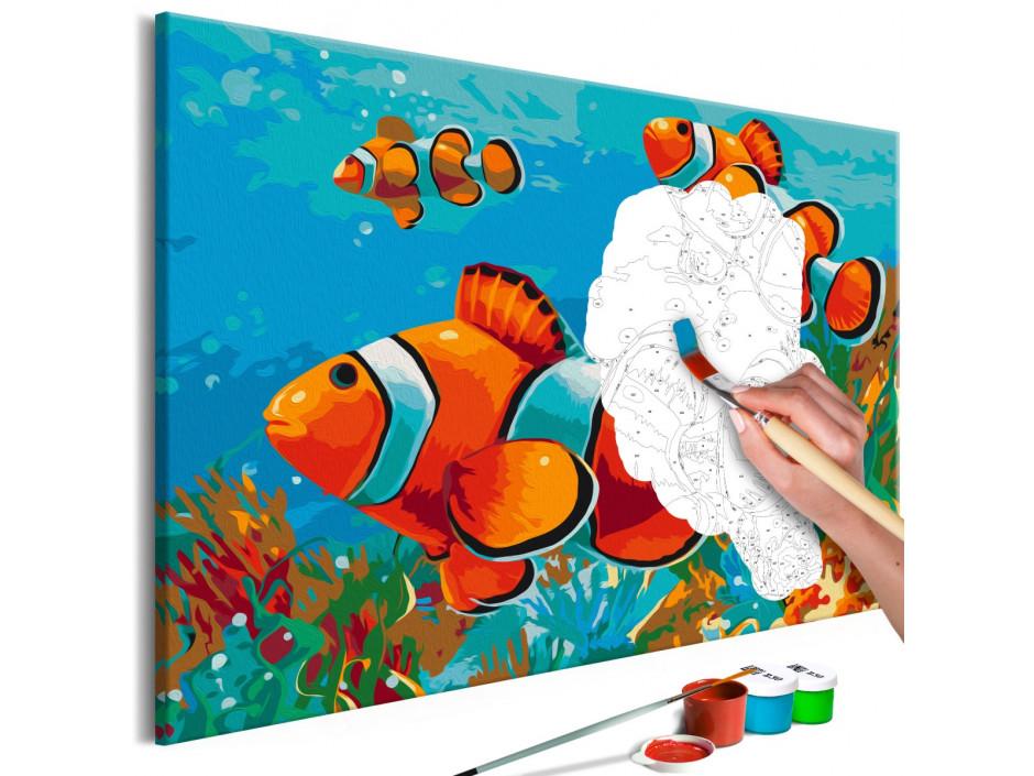 Tableau à peindre par soimême  Gold Fishes