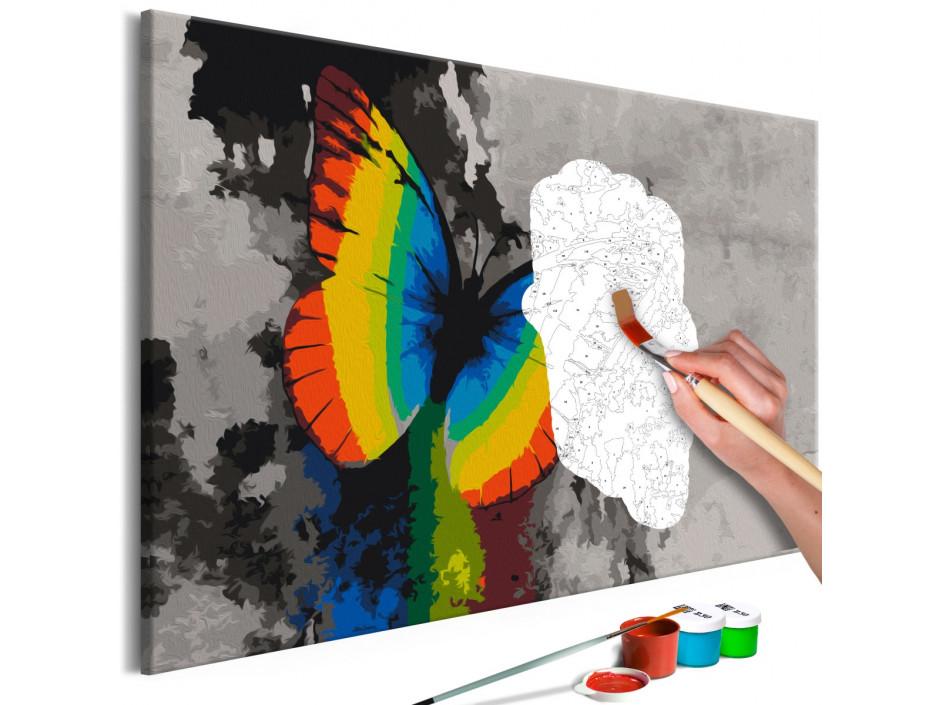 Tableau à peindre par soimême  Colourful Butterfly