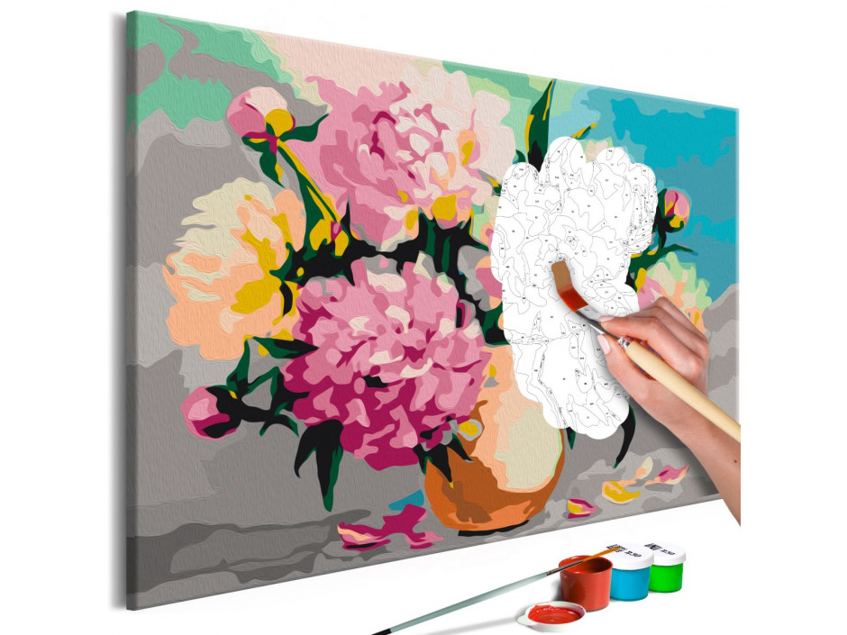 Tableau à peindre par soimême  Flowers in Vase