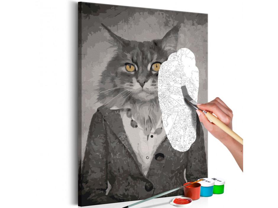 Tableau à peindre par soimême  Elegant Cat