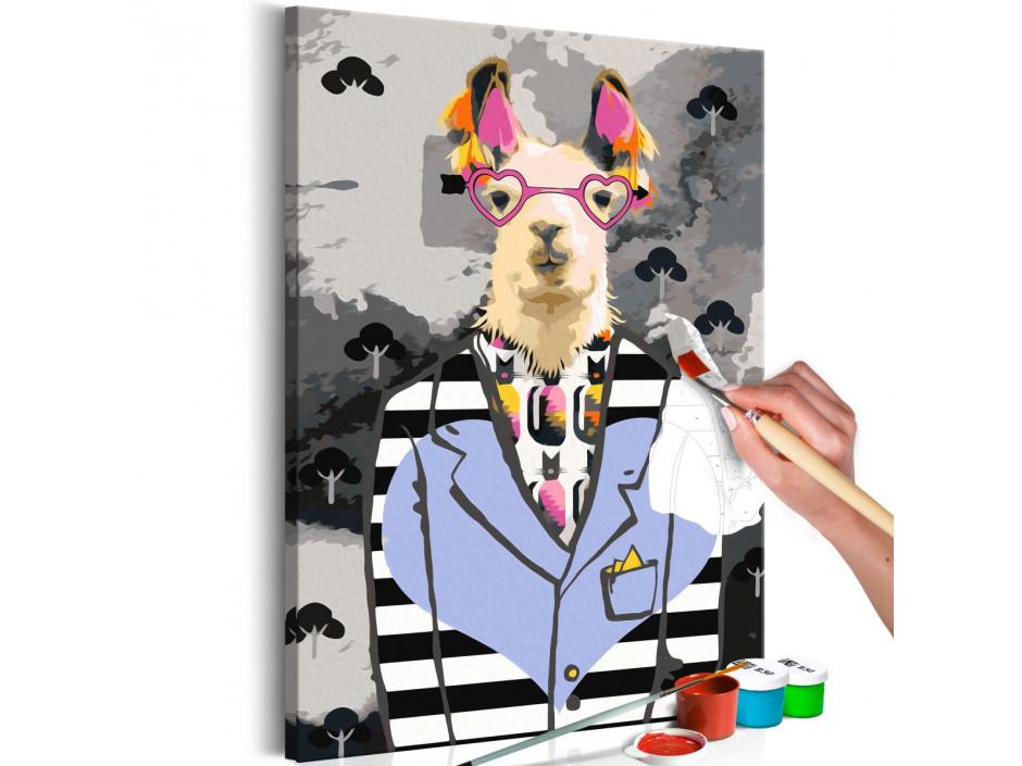 Tableau à peindre par soimême  Crazy Alpaca