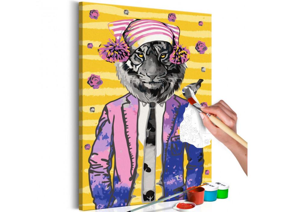 Tableau à peindre par soimême  Tiger in Hat