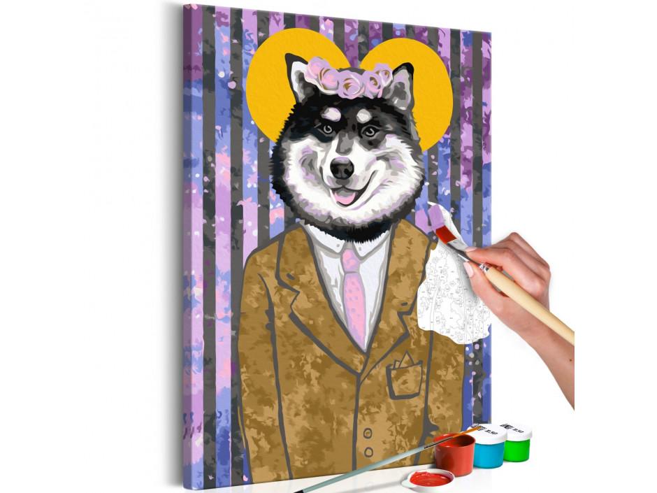 Tableau à peindre par soimême  Dog in Suit