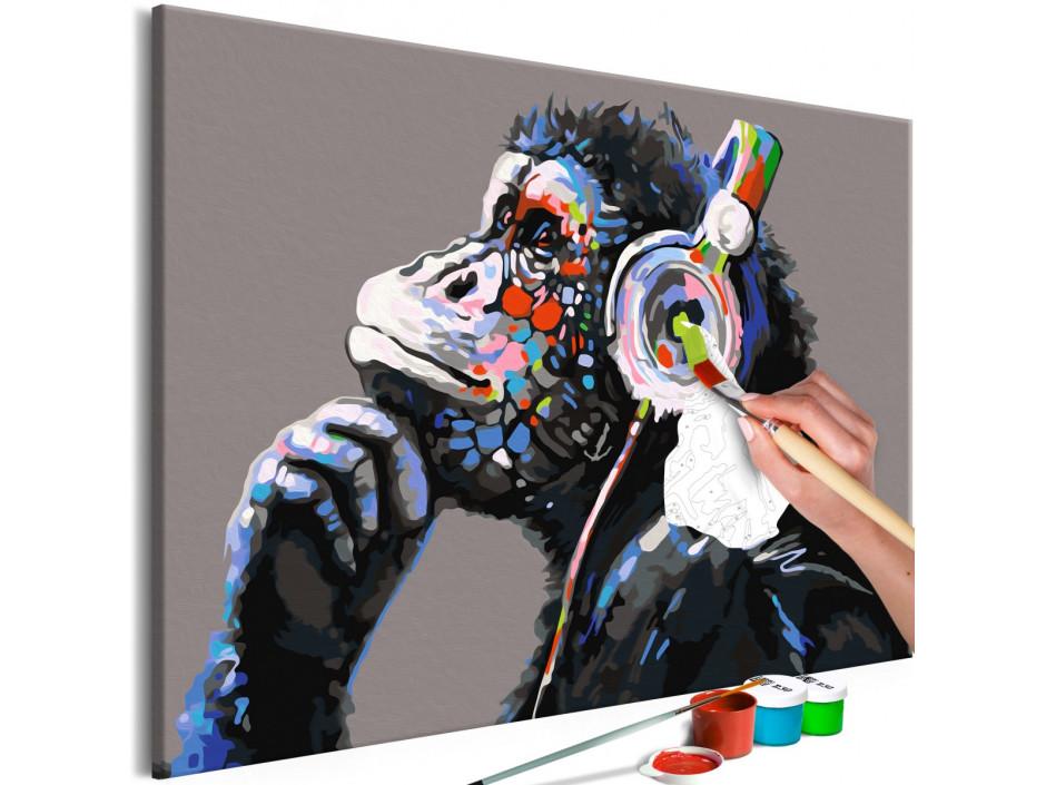 Tableau à peindre par soimême  Musical Monkey