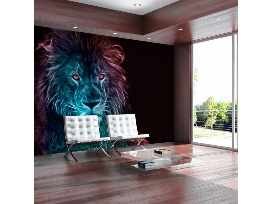 Papier peint  Abstract lion  rainbow
