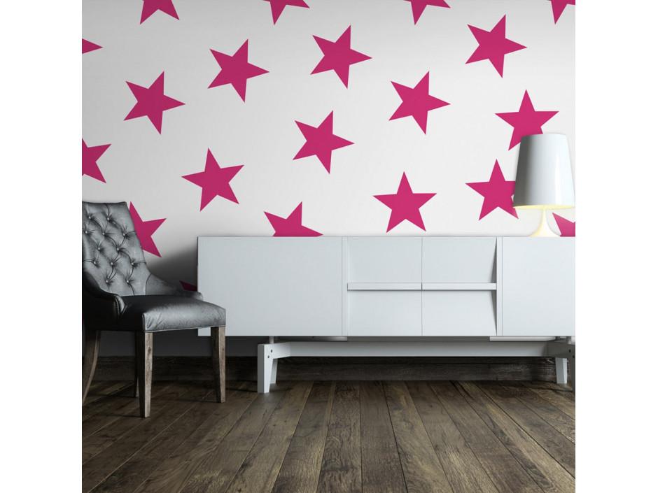 Papier peint  Pink Star