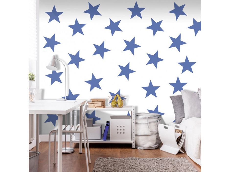 Papier peint  Blue Star