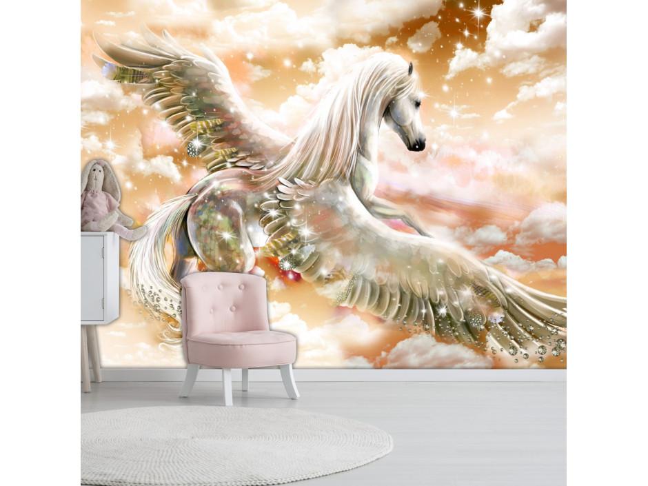 Papier peint  Pegasus (Orange)
