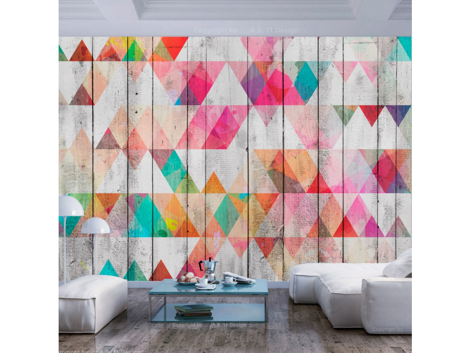 Papier peint  Rainbow Triangles