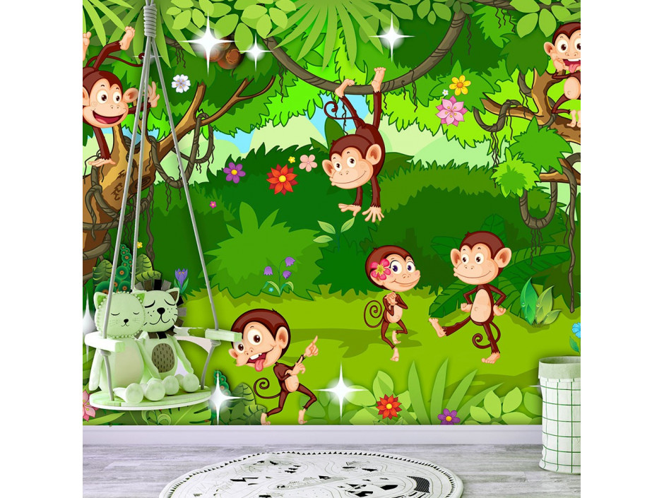 Papier peint  Monkey Tricks