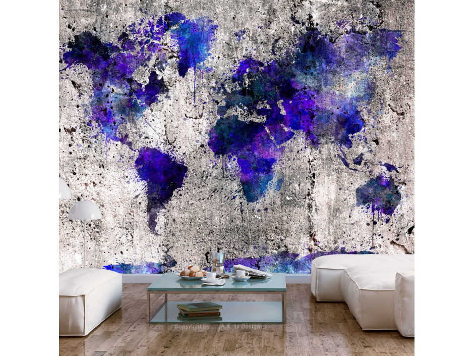 Papier peint  World Map Ink Blots