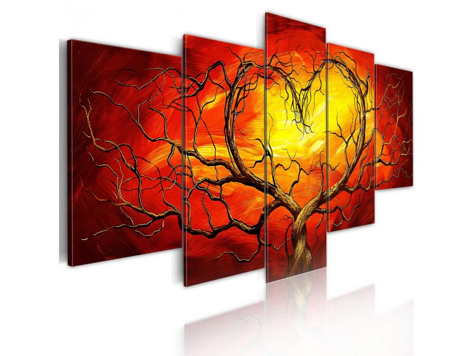 Tableau - Coeur brûlant