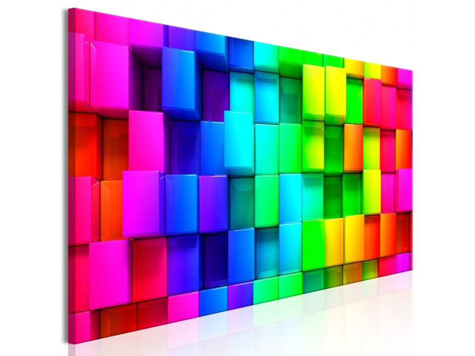 Tableau - Colourful Cubes (1 Part) Narrow