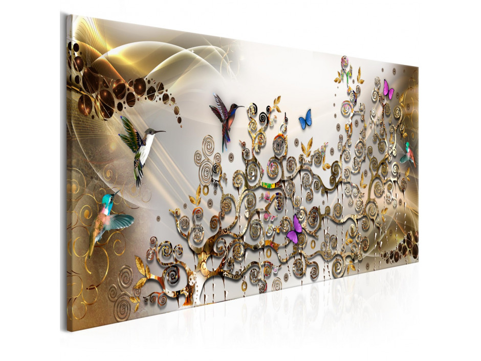 Tableau - Hummingbirds Dance (1 Part) Gold Narrow