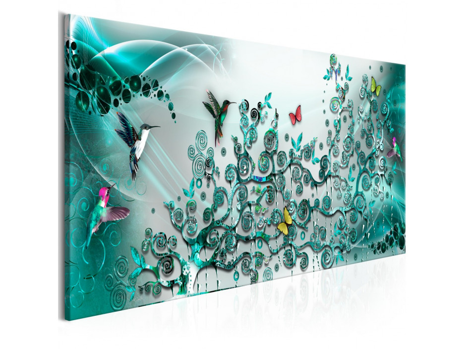 Tableau - Hummingbirds Dance (1 Part) Turquoise Narrow