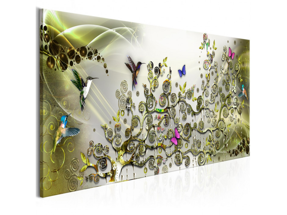 Tableau - Hummingbirds Dance (1 Part) Green Narrow