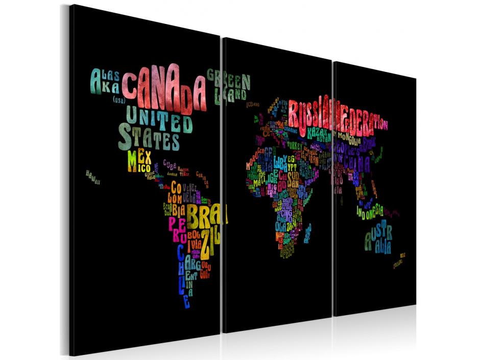 Tableau  Noms des pays  triptyque