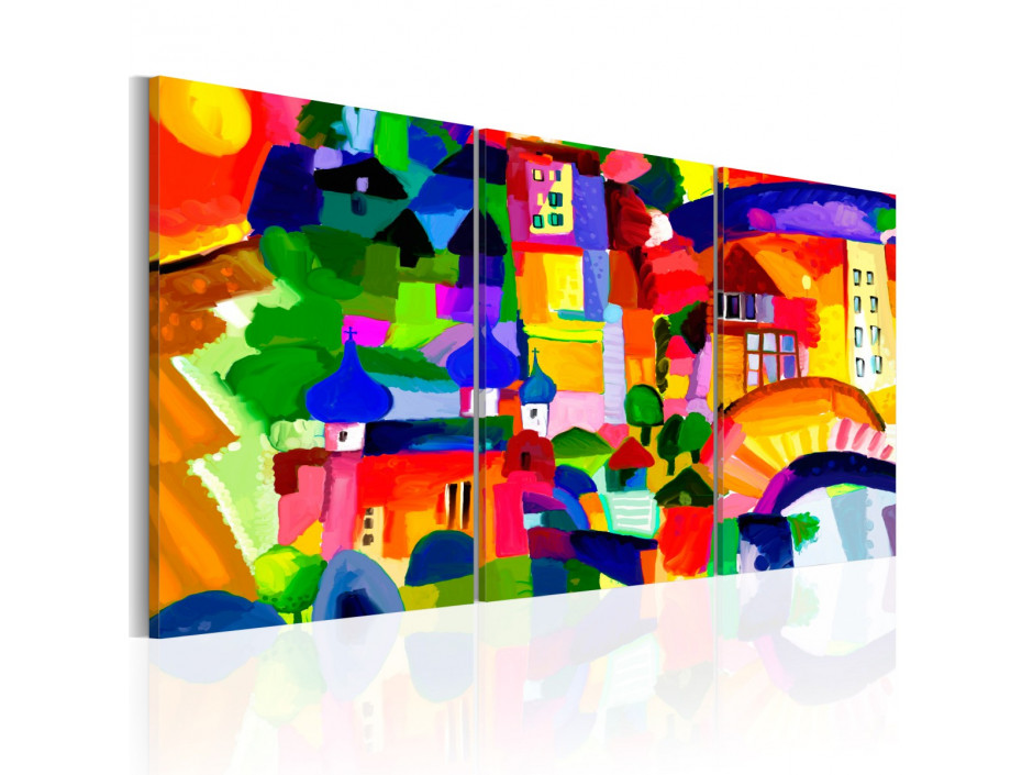 Tableau - Colourful Town