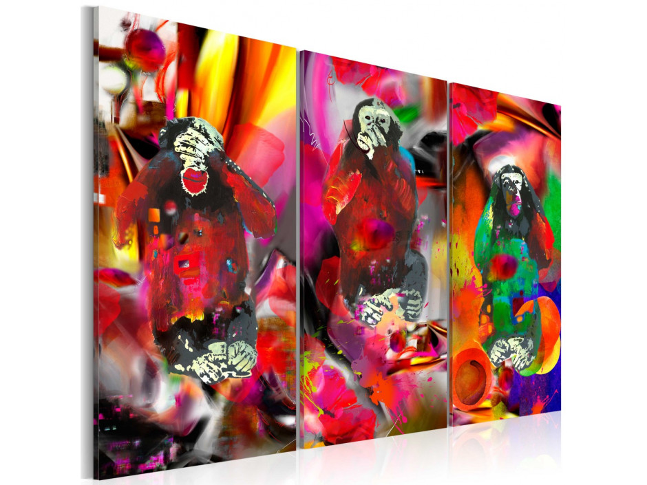 Tableau - Crazy Monkeys - triptych