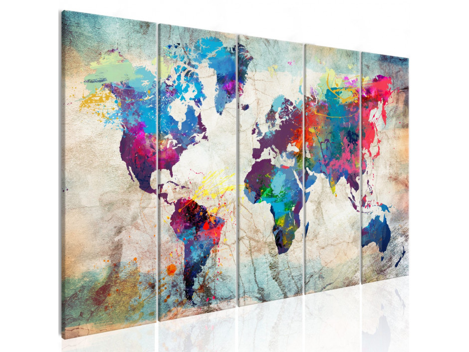 Tableau  World Map Cracked Wall