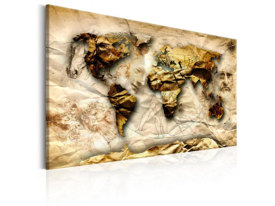 Tableau  Map Leonardo da Vinci inspiration