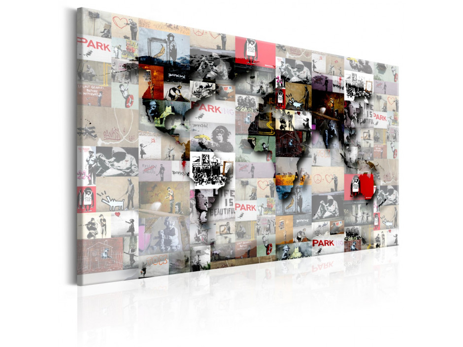 Tableau  Map Banksy inspiration