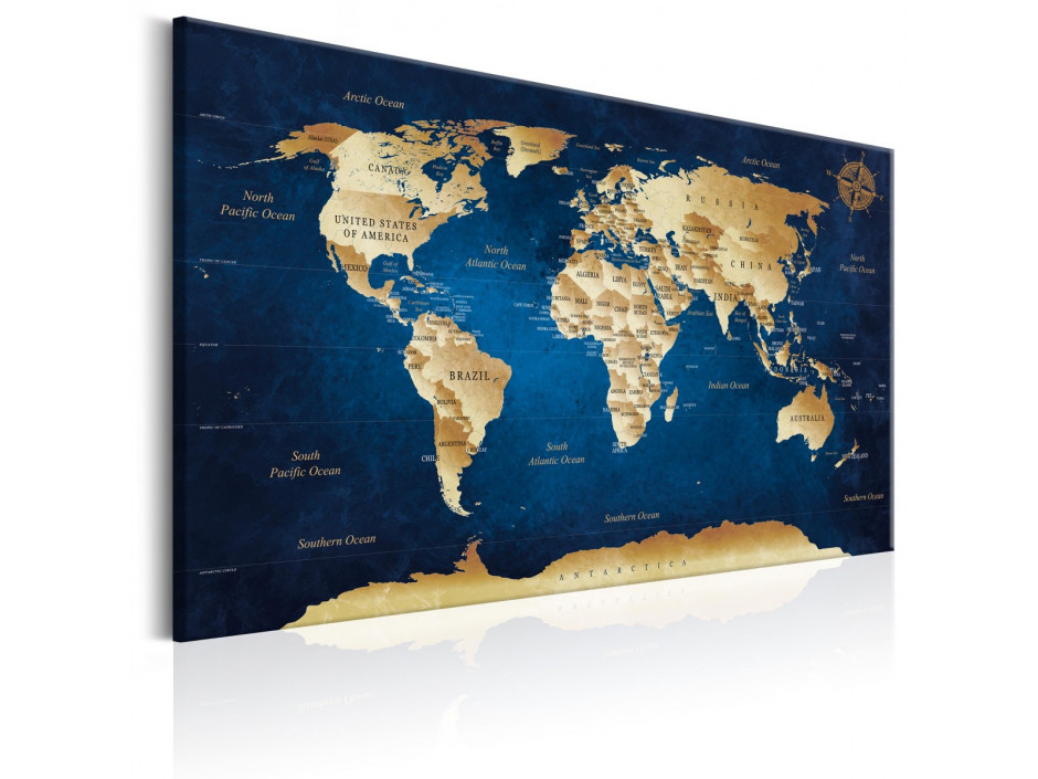 Tableau  World Map The Dark Blue Depths