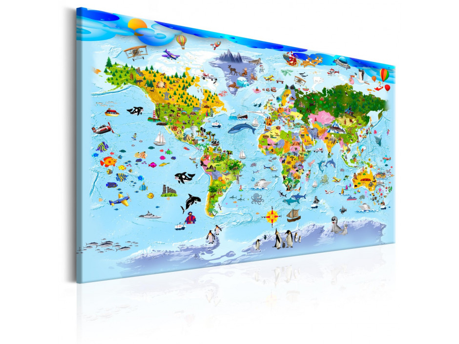 Tableau  Childrens Map Colourful Travels
