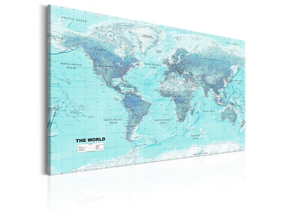 Tableau  World Map Sky Blue World